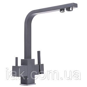 Змішувач для кухні під осмос Globus Lux GLLR-0111-3-TITANIUM