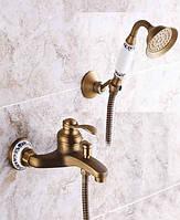 Смеситель для ванны DECO SIMPLE B23 Бронза, фото 1
