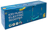 Дитячий електросамокат SNS KS55 Kid Music Black (Чорний), фото 10