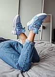 Женские кроссовки Adidas Equipment basketball (blue/white) Реплика ААА, фото 4