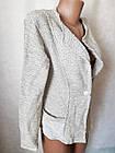 Кофта накидка женская тёплая фабричная вязка р.46-48. От 3шт по 13грн, фото 2