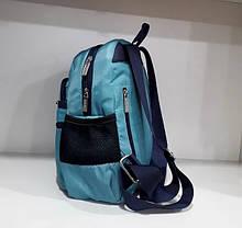 Модний жіночий рюкзак невеликий молодіжний бірюзовий з кишенями 30*24 см Dolly 376, фото 3