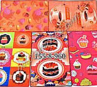 Кухонное полотенце микрофибра Пироженки (12)