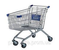 Тележка торговая для самообслуживания в супермаркете (цвет синий)