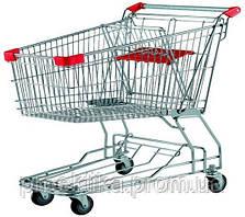 Тележка для супермаркета 100л. (цвет красный) Китай