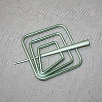Заколка квадрат для нитяных штор, зеленый 85х85мм