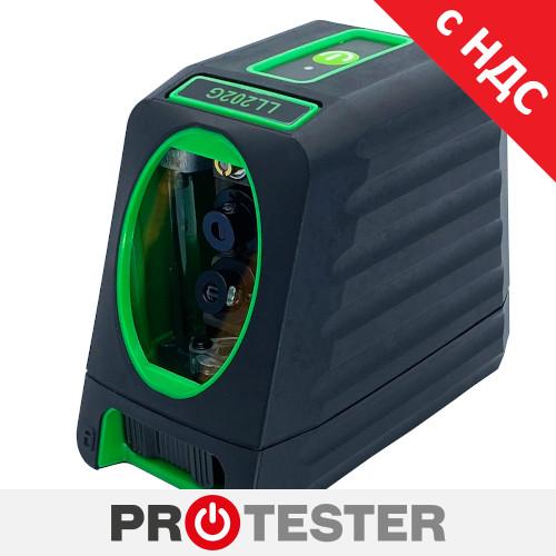 Лазерний рівень, зелений промінь 2 лінії c магнітним кронштейном PROTESTER LL202G