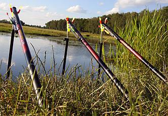 Удочки 6м в сборе Рыболовный набор 3 шт маховые удилища Джокер + Подставки телескопические в ПОДАРОК!