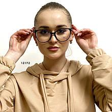 Имиджевые очки в чёрной оправе (компьютерные)