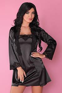 Jacqueline комплект домашній чорний Livia Corsetti Fashion (S/M) #N/A