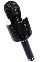 Микрофон для караоке, WSTER WS858, блютуз микрофон для пения, детский микрофон с динамиком (Черный),