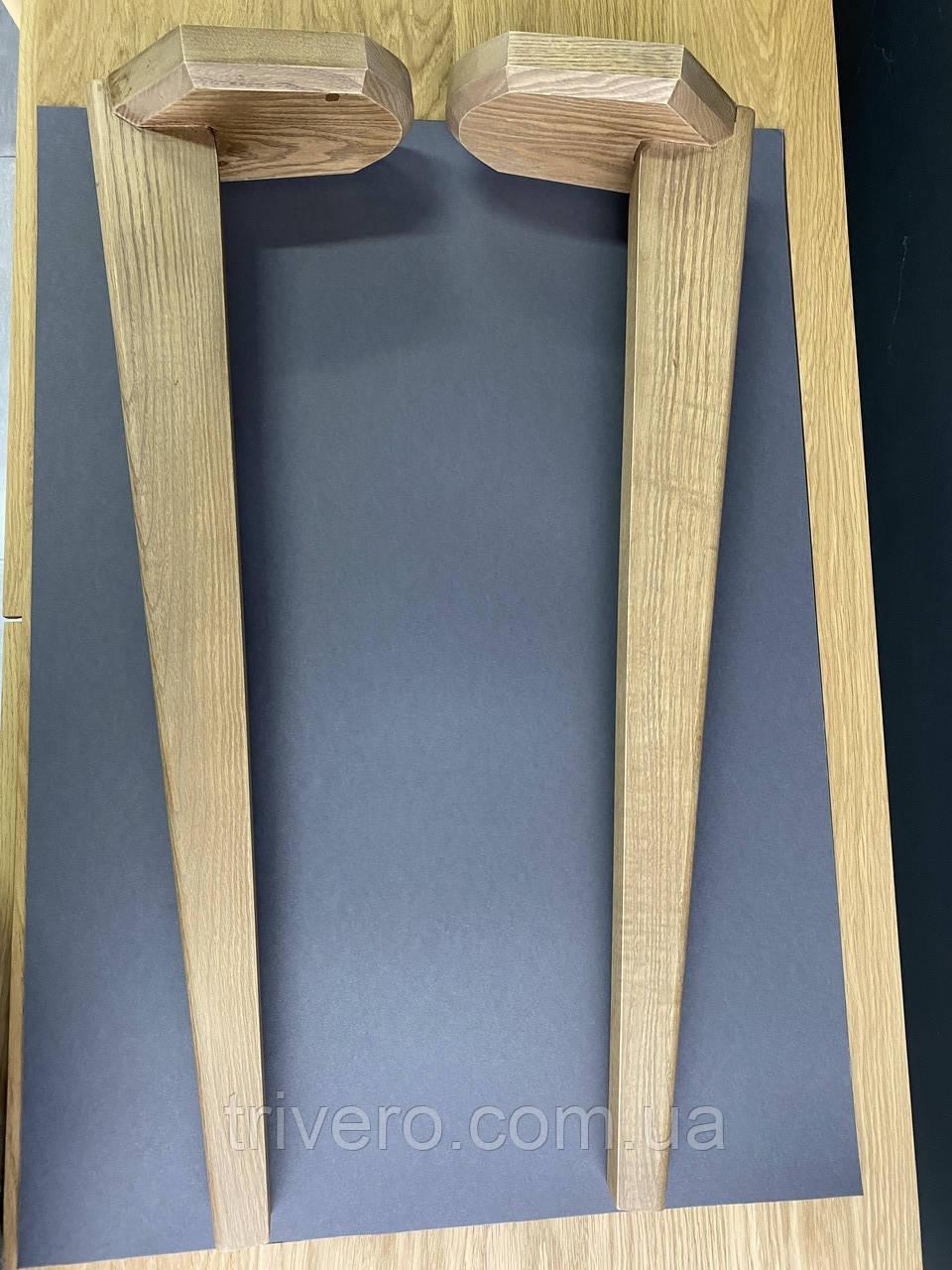 Мебельные ножки и опоры деревянные для стола с гранями /  КОД: Високі - 12