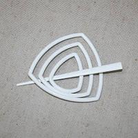 Заколка треугольник для нитяных штор, белый 95мм