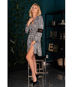 Nearan халат чорно-білий Livia Corsetti Fashion (S/M) #N/A