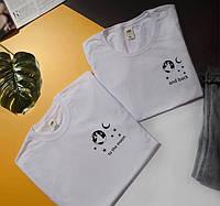 "Парні футболки з принтами "" To the moon , and back """