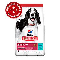 Hills SP Adult Medium Tuna & Rice 12кг - корм для собак средних пород с тунцом