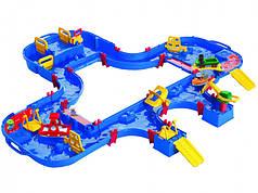 Ігровий набір BIG Аква Плей. Подорож на поромі з краном і 4 фігурками 62 аксес. 150х160х22 см в кейсі 3+