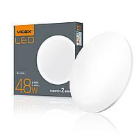 Светодиодный LED светильник настенно-потолочный круглый VIDEX 48W 4100K Матовый