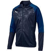 Олимпийка сортивная мужская Puma CUP Training Poly Core 656014 06 (темно-синий, для тренировок, логотип пума)