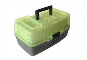Ящик кейс рыболовный для снастей с прозрачной крышкой Stenson AQT-1703T 36x21.5x19.5 см 3 яруса (111951)