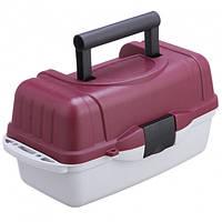 Ящик кейс рыболовный для снастей со съемными перегородками Stenson AQT-2701 39.5x19.5x19.5 см 1 ярус (111946)