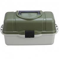 Ящик кейс рыболовный для снастей Stenson AQT-2703 45x22.5x24 см 3 яруса (111952)