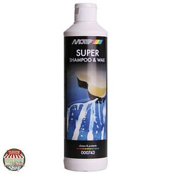 Шампунь с воском Motip Black Line Shampoo and Wax, 500 мл