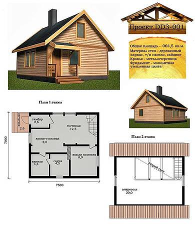 Проектирование деревянных домов разных видов