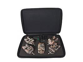 Набор сигнализаторов с пейджером в кейсе 4+1 Sam's Fish Camo SF23997 (112185)
