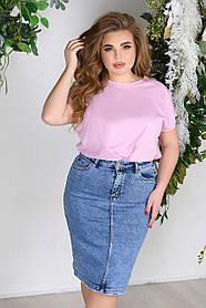 Юбка джинсовая женская Большого размера