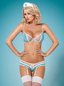 834-CST-6 костюм медсестри блакитний Obsessive (S/M) #N/A
