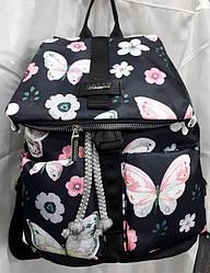 Небольшой городской рюкзак женский модный с карманами Принт Бабочки Dolly 301