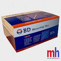 Шприц для инсулина bd micro fine plus 0,50 мл (30G) x8 мм (США)