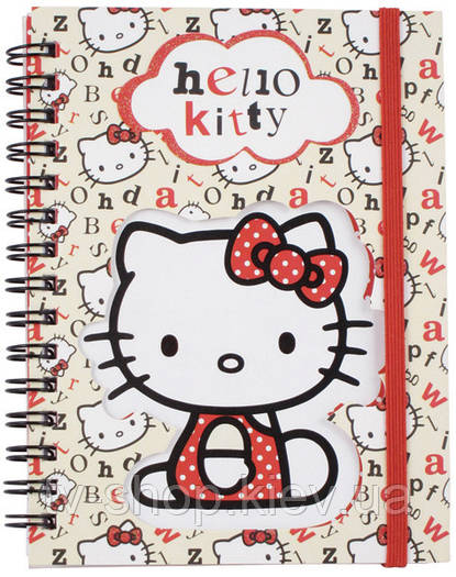 Блокнот на спирали Hello Kitty,А6