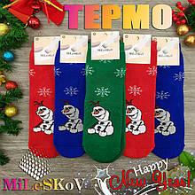 Шкарпетки жіночі махрові середні Mileskov 36-41р сніговики асорті 20034887