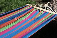Гамак тканевый с планкой 200*100см. Гамак садовый мексиканский Выдержит 120 кг. Цвет №1 353