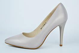 Туфли лодочки Lady Marcia 5301 36 Серые перламутр кожа