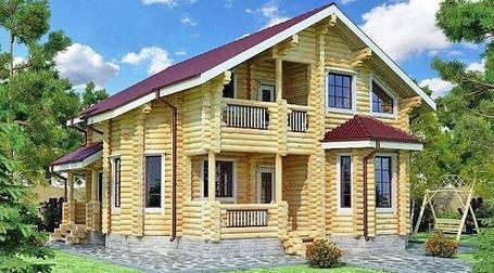 Деревянные дома из оцилинрованного бруса
