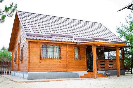 Дом из термомодифицированного бруса от производителя в Украине