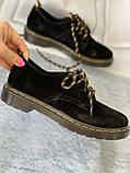 Чорні туфлі з натуральної замші, фото 5
