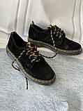 Чорні туфлі з натуральної замші, фото 3