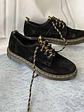 Чорні туфлі з натуральної замші, фото 4