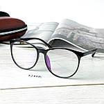 Имиджевые очки в черной оправе (антиблик), фото 4