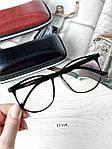 Имиджевые очки в черной оправе (антиблик), фото 5