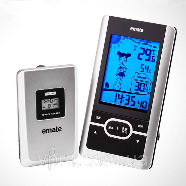 Термогигрометр HTC-4S (IN: -10°C - +50°C; OUT: -50°C - +70°C; RH: 10-99%) с внешним радиодатчиком
