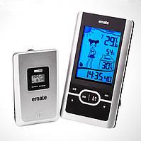 Термогигрометр HTC-4S (IN: -10°C - +50°C; OUT: -50°C - +70°C; RH: 10-99%) с внешним радиодатчиком, фото 1