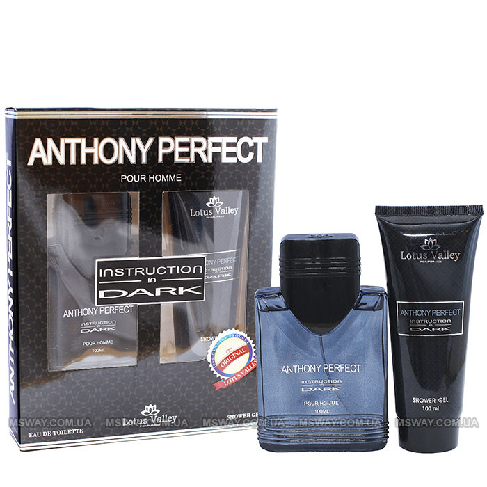 Anthony Perfect Instructions in Dark Набор EDT 100ml + Гель/душ 100ml мужской
