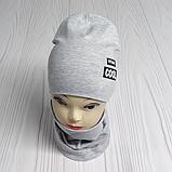 """М 4547. Комплект  весна-осень шапка двойная + хомут для мальчиков """"viva cool"""" 3-8 лет, разные цвета, фото 3"""
