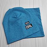 """М 4547. Комплект  весна-осень шапка двойная + хомут для мальчиков """"viva cool"""" 3-8 лет, разные цвета, фото 7"""