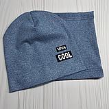 """М 4547. Комплект  весна-осень шапка двойная + хомут для мальчиков """"viva cool"""" 3-8 лет, разные цвета, фото 9"""